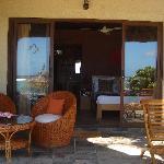 une chambre bungalow terrasse privée