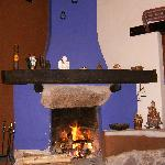 Fireplace in living room -- after a long day at Machu Piccu