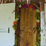 the welcoming honeymooners door