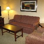 Main lounge area in executive suite at Radisson Kenosha