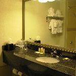 Bathroom vanity at Radisson Kenosha