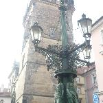 Lamp Post outside of B&B looking towards the Charles Bridge