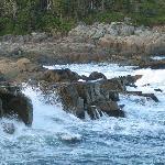 Rocks around lighthouse
