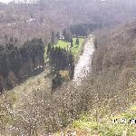 Views down to the Lesse River