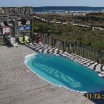 Overlooking pool/ocean from top deck.