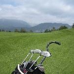 Golfing in Bled