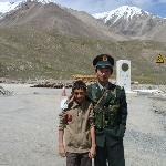 Junaid at Khunjrab top on karakoram highway