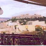 Acropolis from hotel rooftop restaurant
