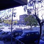 Outside the hostel
