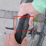 Corte en las cubiertas de las bicis