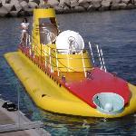 External view of submarine