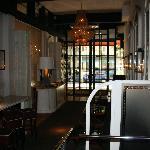 The restaurant lobby