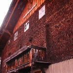 La facciata della casa