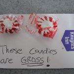 Really GROSS candies left for us to eat.