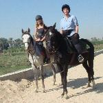 horse riding...along The Nile