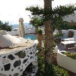 Der Garten mit Pool vom Hotel Sofia