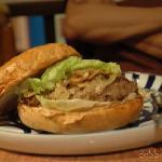 Cafe Breton's Mozarella Burger! view larger on