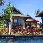 Backside of villa