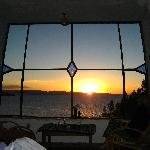 view of sunset from armchair