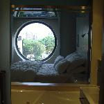 Shot from the bathroom thro the removable bathroom window