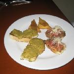 Our appetizer, the bruschetta was excellent as was the other stuff but I don't remember what it