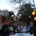 Restaurant at dusk