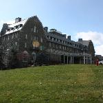 The Main Lodge in the winter sunshine