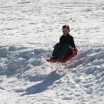 Air born sledging!