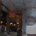 """Deer Hunters Special"" Sign inside restaurant"