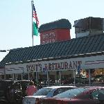 Tony's Restaurant Sign and Awning