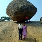 Balancing point at Mahbalipuram