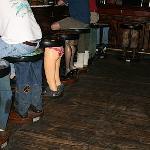Bar stools at the bar!