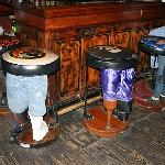 Bar stools at the bar!
