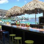 Outdoor Tiki Bar in Summer