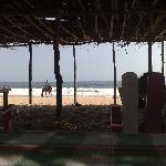 The beach and palapa