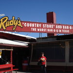 Rudy's in san antonio.
