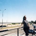 Lia en la playa de Carrasco Uruguay