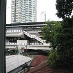The BTS Skytrain station outside...