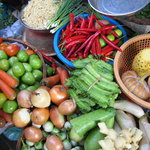 A colourful array of vegetables