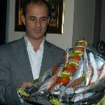 Ferhat with his seafood platter