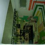 La sala colazione vista dall'alto della nostra stanza