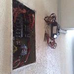 Exposed Wiring in the escape Corridor