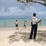 security guards keeping vendors off resort grounds