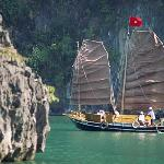 Sailing Boat in halong bay