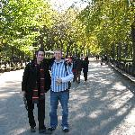 Luke and my husband in central park