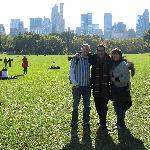 we three together at the Central Park