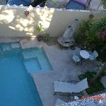 view of pool from the roof top deck