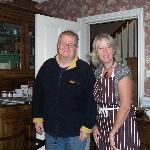 John with our hostess Suzanne