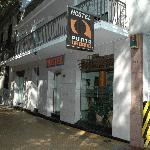 Frente del hostel