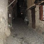The alley outsite of the hotel